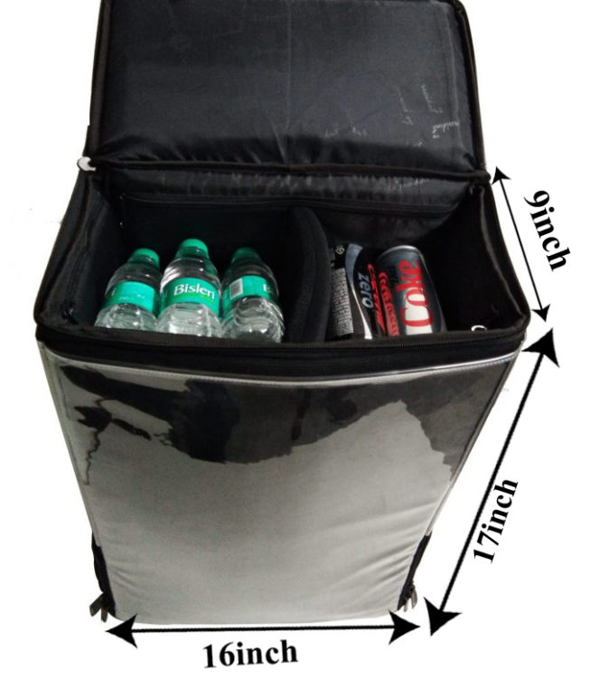 bottle can backpack dispenser dimension